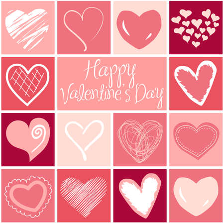 heart clipart: Valentine heart greeting card.