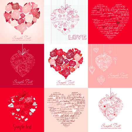 Greeting cards with hearts