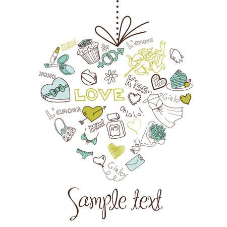 Valentine heart .  Stock Illustratie