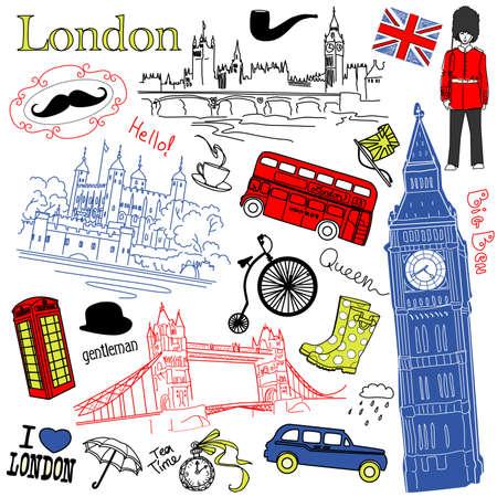 london big ben: Лондон каракулей Иллюстрация