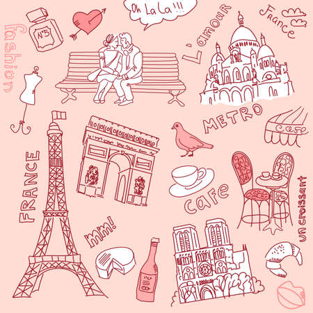 notre: love in paris doodles