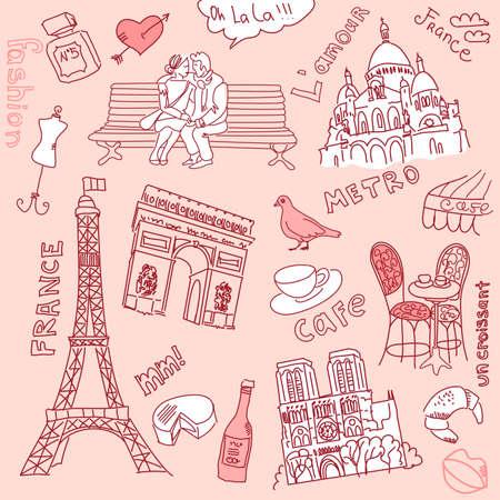 montmartre: love in paris doodles