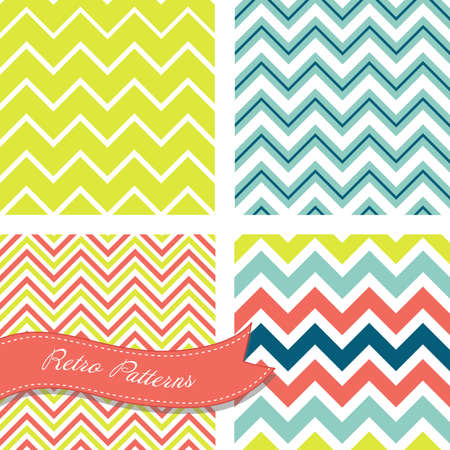 reapeating: A set of seamless retro Zig zag patterns