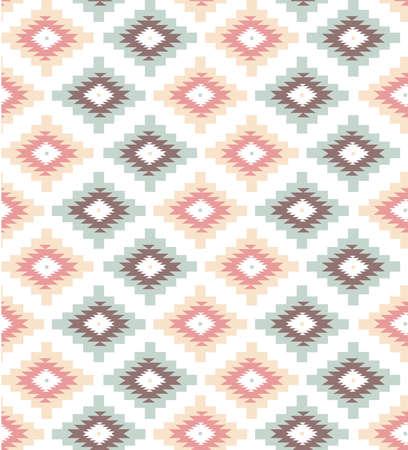 アステカのスタイルでシームレスな幾何学模様  イラスト・ベクター素材