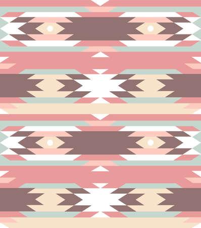 native indian: Patr�n geom�trico transparente en estilo azteca Vectores