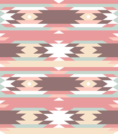 Seamless geometric pattern in aztec style Imagens - 20468349