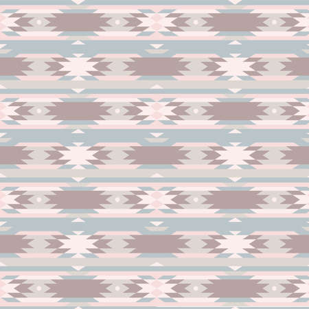 Seamless geometric pattern in aztec style Vector