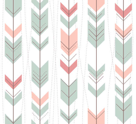 Seamless geometric pattern in retro style