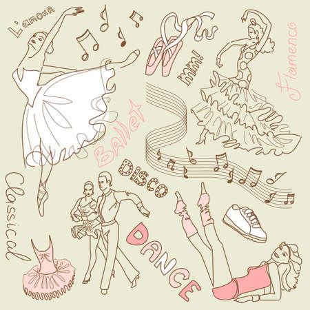Dance doodles Zdjęcie Seryjne - 20468385