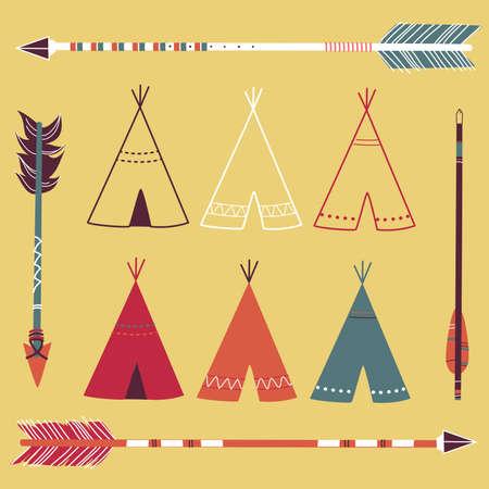 indio americano: Tiendas de campa�a tipi y flechas - estilo inconformista