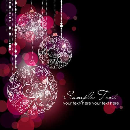 Black Glamorous Kerst Achtergrond Stock Illustratie