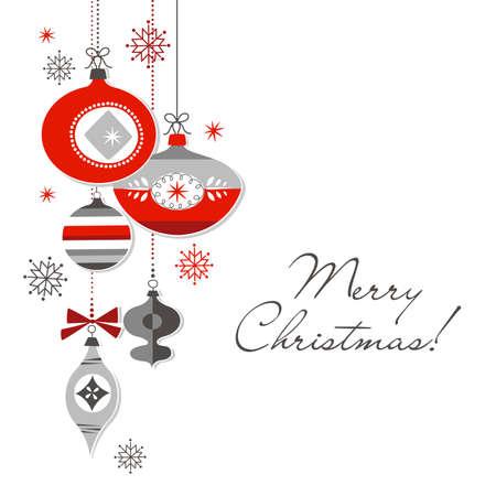 レトロなクリスマスの装飾