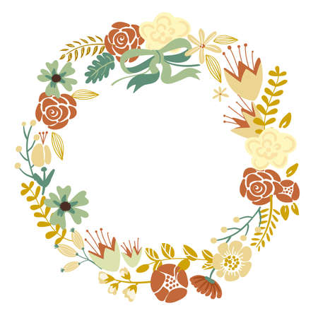 Autumn Floral Frame Collection Vector
