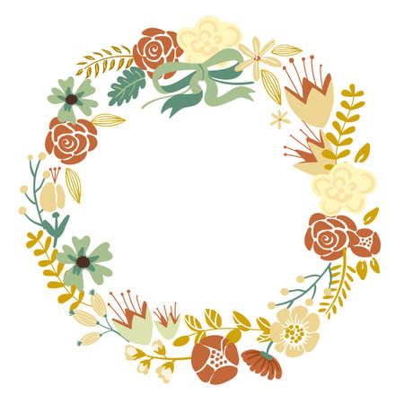 Autumn Floral Frame Collection Ilustração