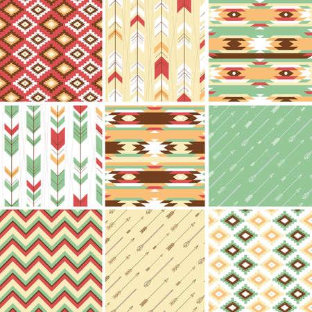 Naadloze geometrische patroon in Azteekse stijl