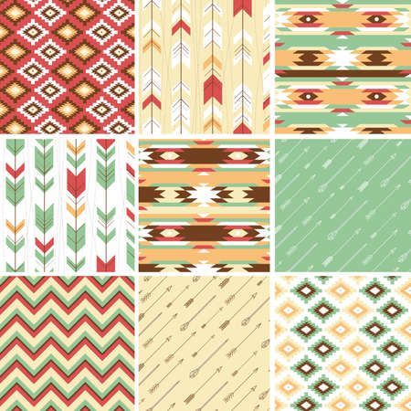 traditional pattern: Seamless geometric pattern in aztec style