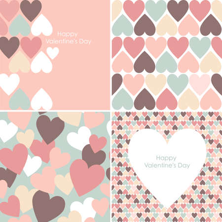 set of Valentines seamless pattern  Stock Vector - 25077025
