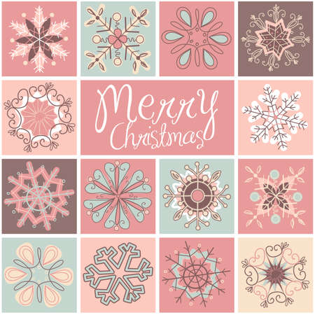 Bright Snowflake background Imagens - 25077054