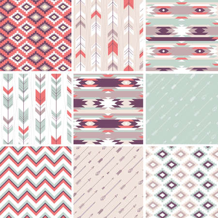 apache: Seamless geometric pattern in aztec style