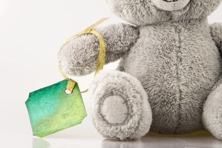 Bear with post card