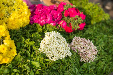 arrangment: floral arrangment for  religious offerings in india