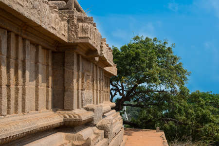 mamallapuram: shore temple at Mamallapuram,Tamil Nadu, India Stock Photo