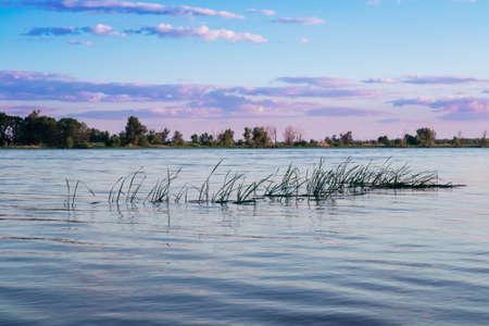 beautiful landscape on Volga, Russia photo