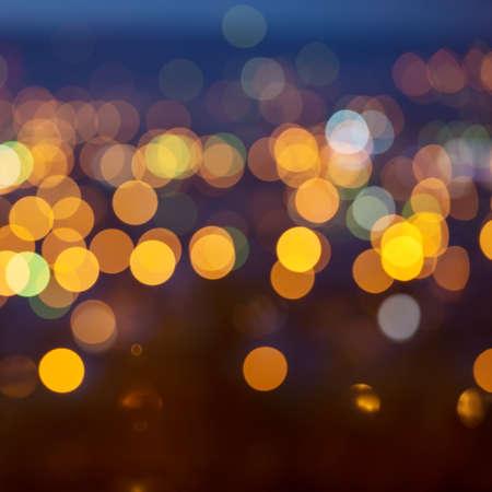 effets lumiere: lumi�res de la ville en arri�re-plan avec des lumi�res floues