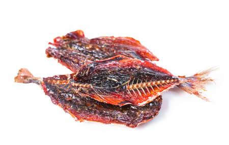 fish and chips: Thai collation �pic�e nourriture traditionnelle, les copeaux de poissons rouges, gros plan Banque d'images