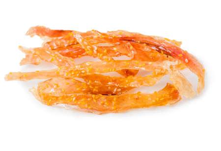 fish and chips: patatas picantes bocado de pescado con s�samo, comida tradicional de Tailandia, portarretrato