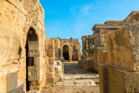 sity: Beautiful view of ancient ruins Roman Empire, sity Side, Turkey, archeology background