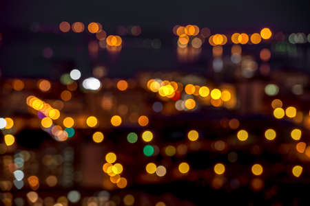 abstract circular bokeh city lights colorful background