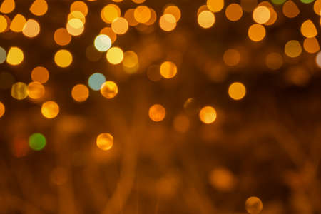 abstract circular bokeh festive background, city lights