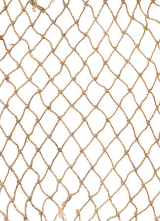 Rope net pattern or texture for soccer, football, volleyball, tennis and fisherman, isolated on white background