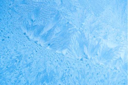 beautiful frost background of on ice window, close up 版權商用圖片