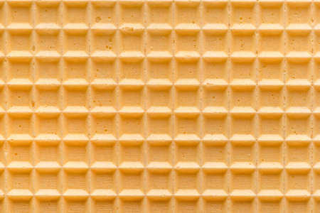 empty golden wafer background for your design, close up