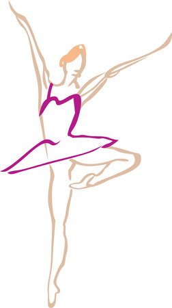 Styling of the female figure in a tutu. Vector