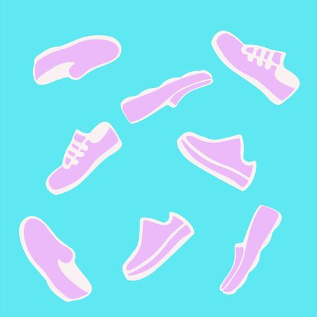 smooth surface: Shoes. Moccasins. Design of vector illustrations. Background,  signs, symbol Illustration
