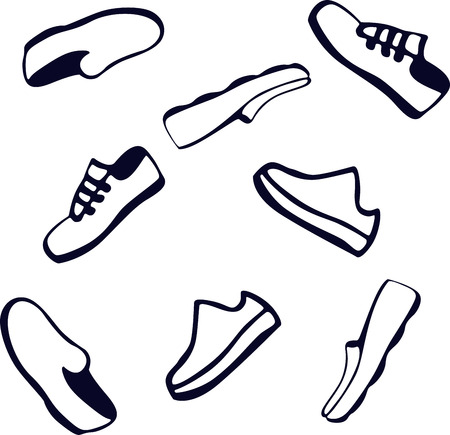 smooth surface: Shoes . Loafers . Design of vector illustrations . Background , white, sign, symbol