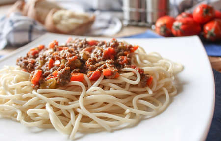 spaghetti bolognese Stock Photo - 18079382