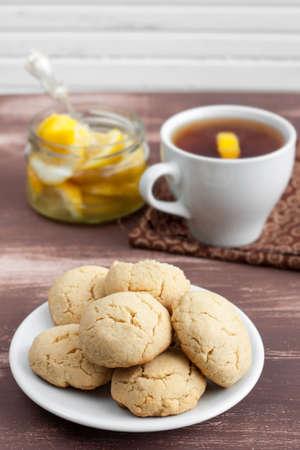 biscuit biscuits: cookies and tea with lemon