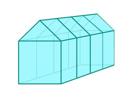 Greenhouse isolated on white background. Vector illustration. Illustration