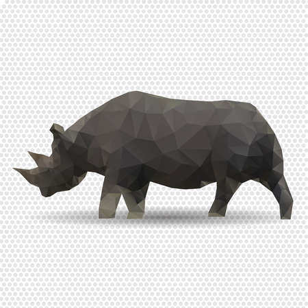 Rhino isolated on a white background Vector