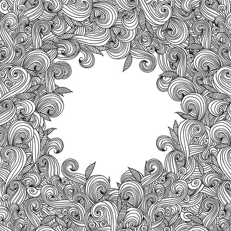 psychoanalysis: Abstract hand-drawn curly wave pattern
