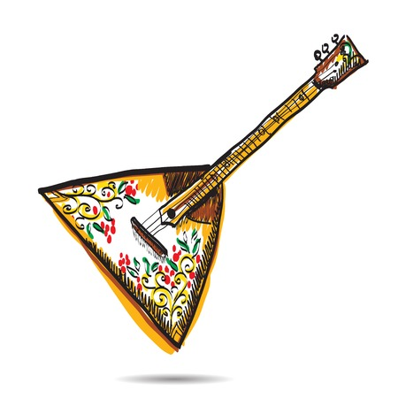 balalaika: russian balalaika on white background