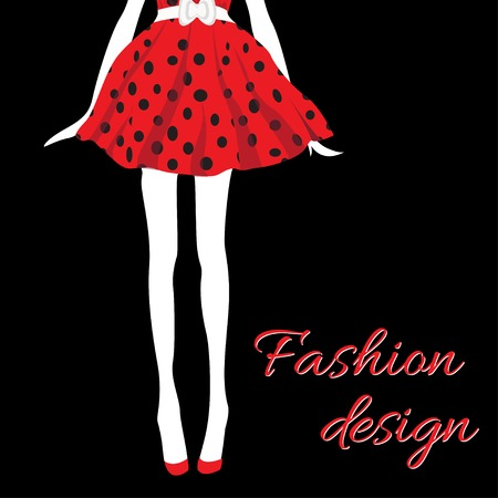 fashion girl in silhouette style