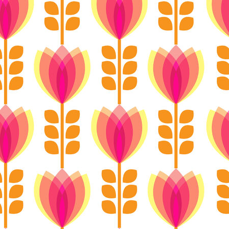 petal: Floral pattern with petal on white background