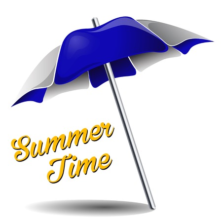 Beach umbrella on the white background. Vector EPS Vector