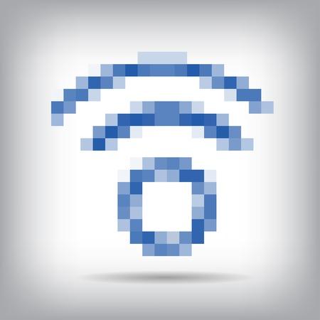 remote access: Blue wireless icon for remote access. Illustration