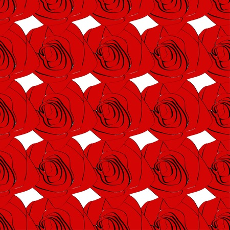 seamless roses pattern on a background. Vector. Vector
